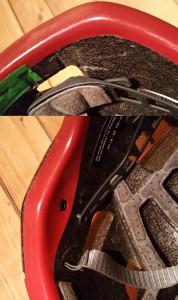 Schäden am Helm